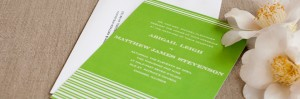 Spring Stripes Wedding Invitations by Kerry Doyle