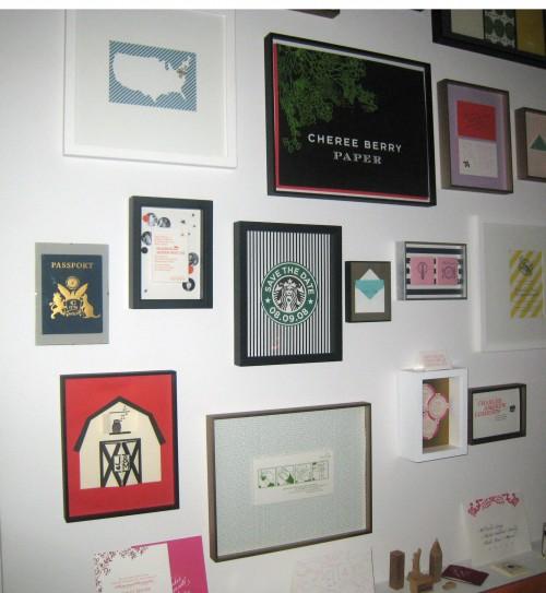 Cheree's photo wall