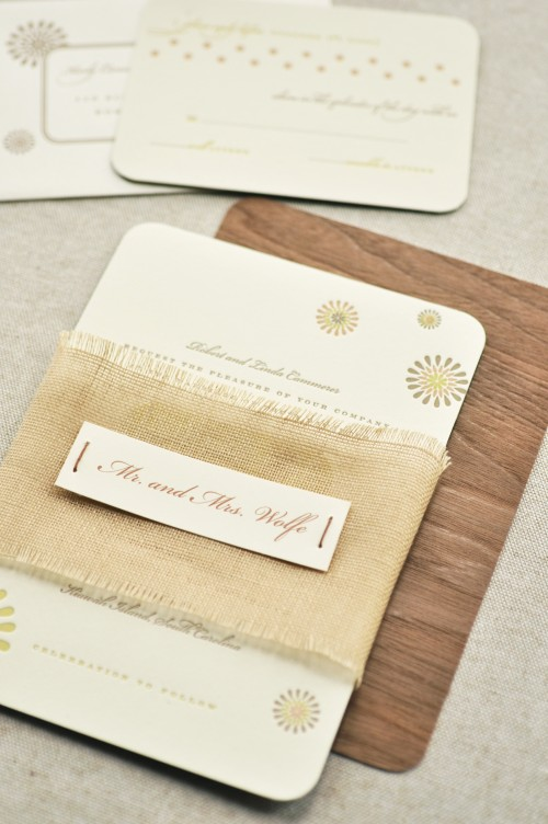 Karly and Judd's invitation