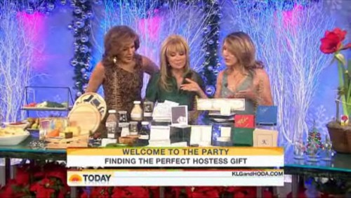 The ladies ooohing and ahhhing over the great gifts featured