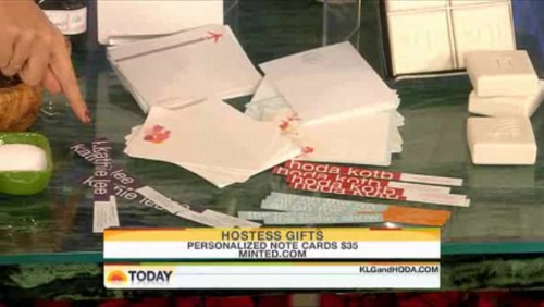Our cards and skinny wraps on the Today Show