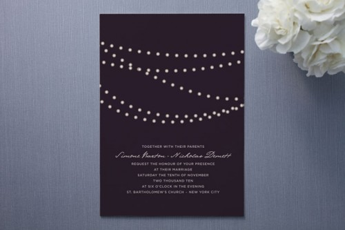 midnight vineyard wedding invitation