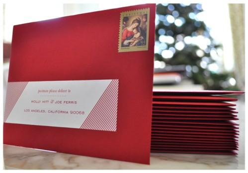 Allison's Christmas envelope