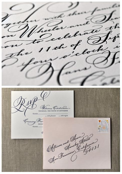 Allison's wedding invitation