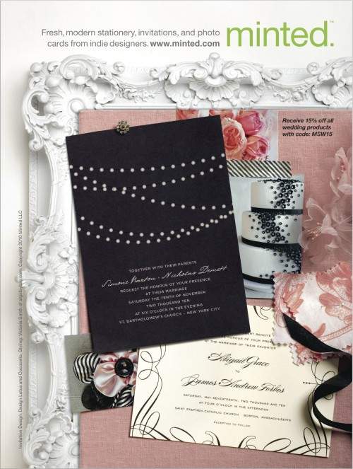 Martha Stewart wedding invitation ad Julep