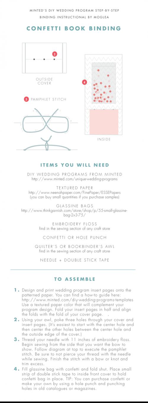 how to moglea diy wedding programs julep