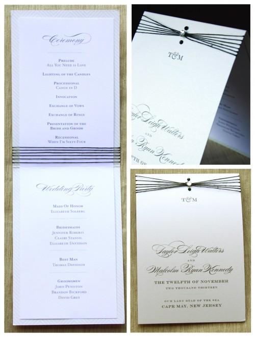 Orange Blossom Ink 39s Charming Go Lightly Wedding Program Entry