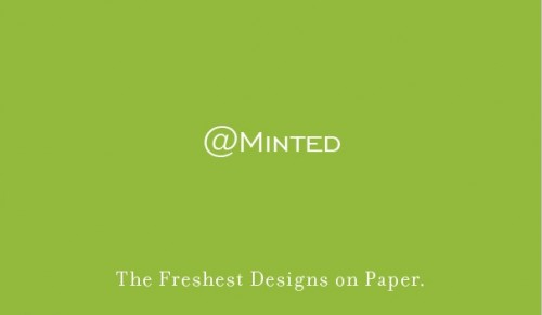 Minted Twitter Business Cards
