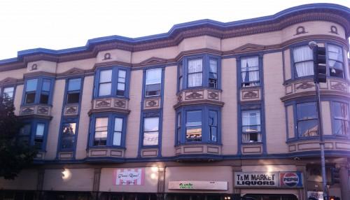 Jess's apartment building.