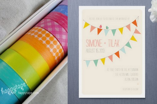 Washi Tape Wedding Julep