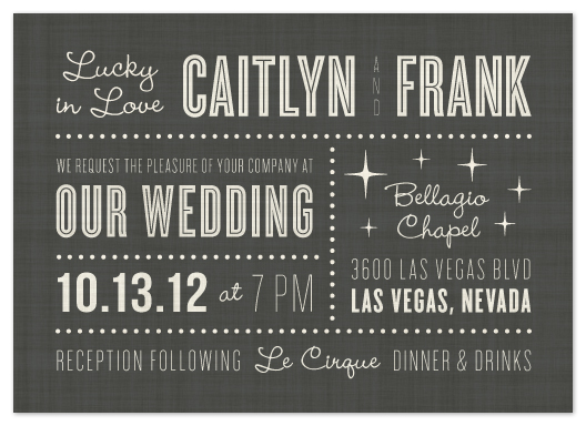 Wedding Invitations Lucky In Love At Minted Com