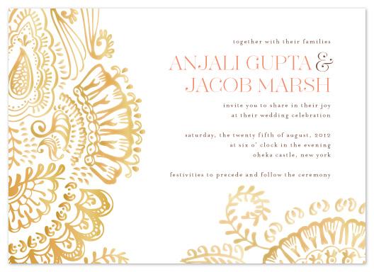 Modern Indian Wedding Invitations Uk: Challenge
