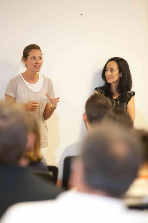 Christy Turlington Burns speaking at Minted