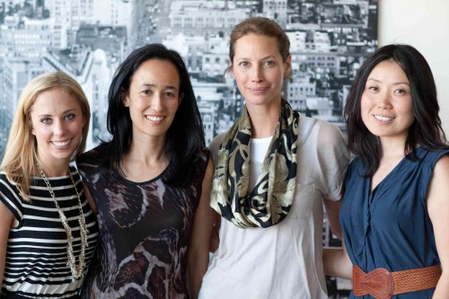 Christy Turlington Burns with the Minted.com team