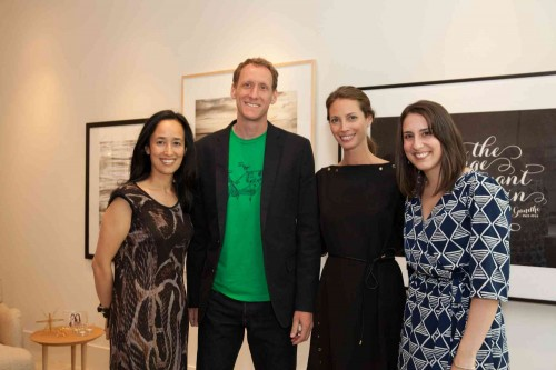 Hailey Myziuk (Hello Hailey) and Eric Comstock (ERAY) with Christy Turlington Burns and Mariam Naficy