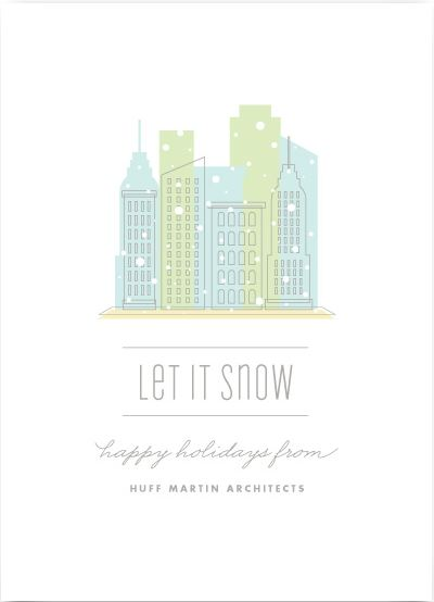 City Flurry Holiday Business Cards