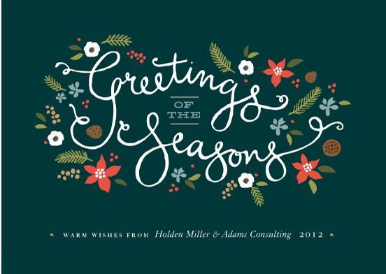 Greetings of the Seasons Business Holiday Cards