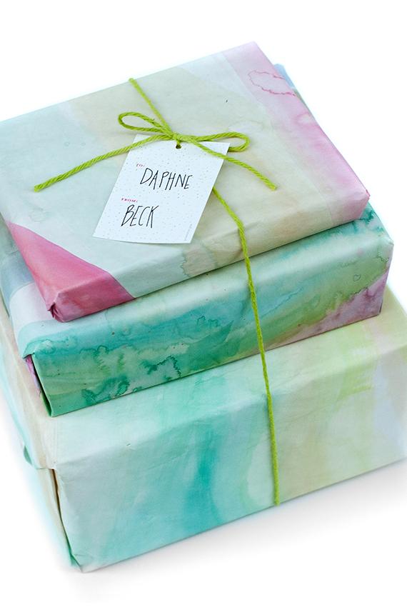 Watercolor Gift Wrap Julep