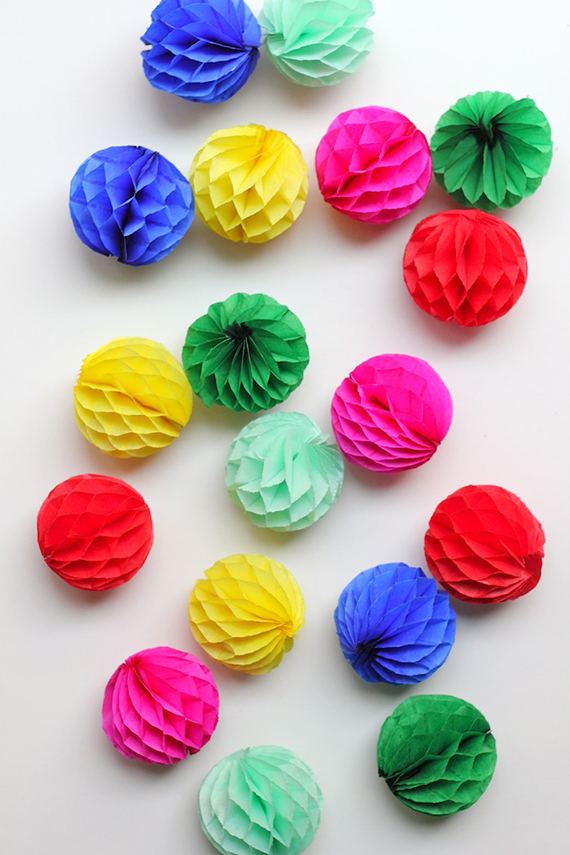 How To Make Paper Balls For Decoration Inspiration Honeycomb Ball Ornaments  Julep Decorating Inspiration