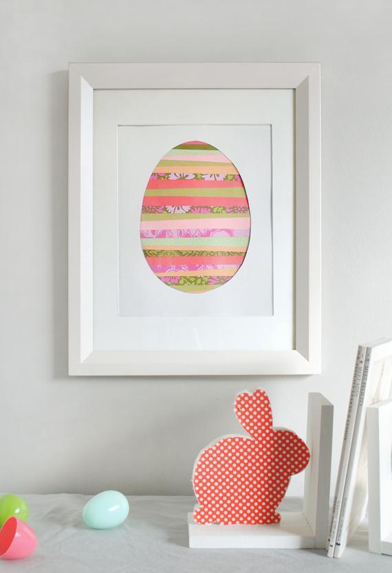 Paper Strip Easter Egg Art Julep