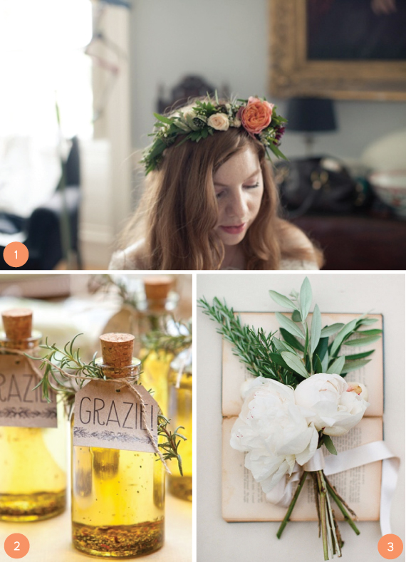 Herb Wedding Decor