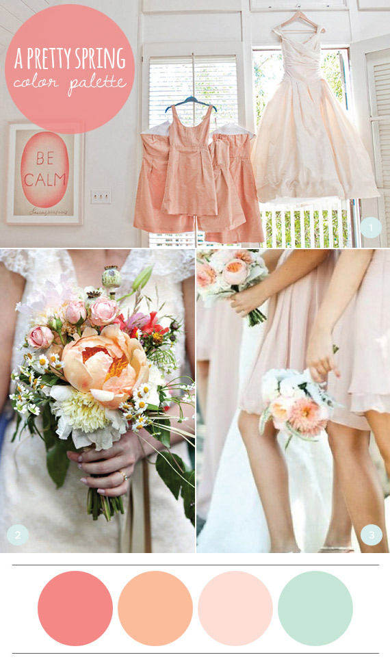 A pretty spring color palette julep spring wedding colors junglespirit Image collections