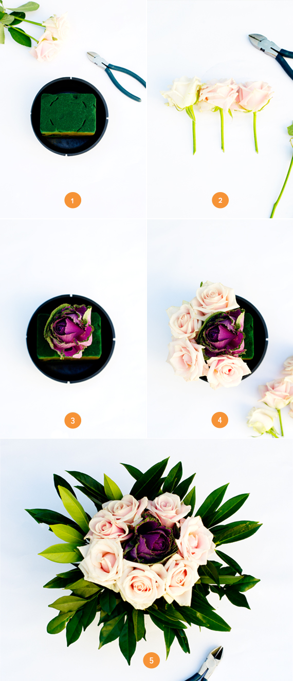 Step by Step Template Flora lCenterpiece