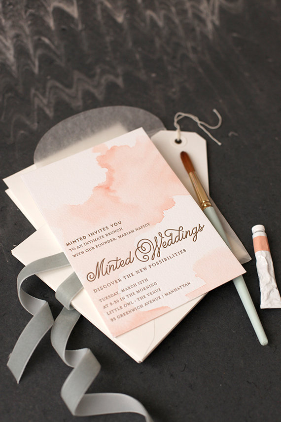 DIY Watercolored Letterpress Invites Julep