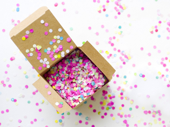 Bright paper confetti for a wedding toss
