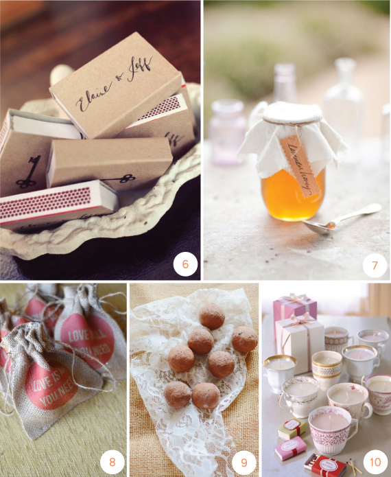 Make Your Own Wedding Favor Ideas: 10 DIY Wedding Favors