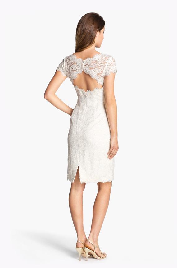 Open back romantic lace dress