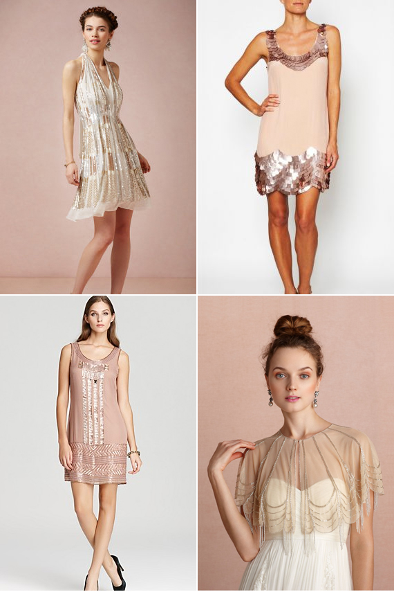 Sparkly dresses for a glittery wedding getaway
