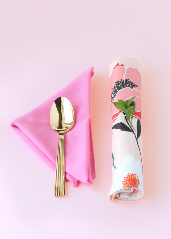 Pretty floral cutlery bundles