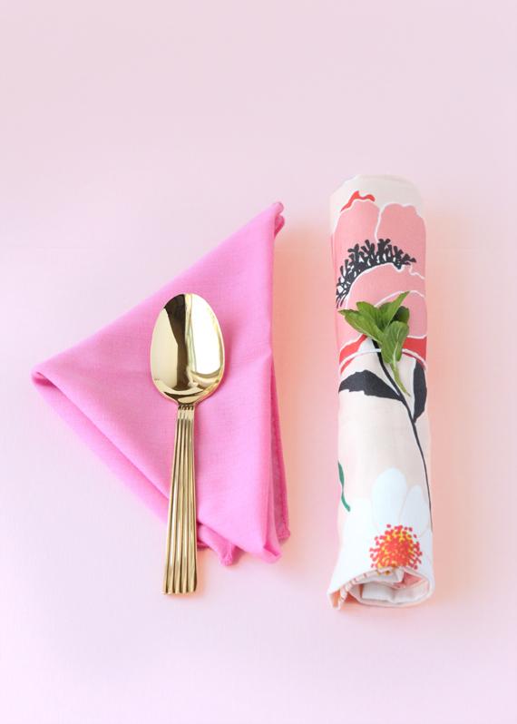 Pretty floral cutlery bundles