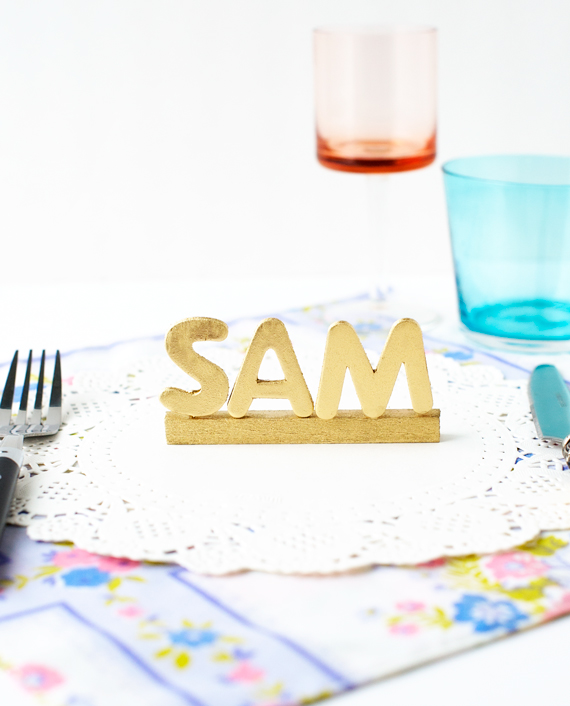 Typographic Place Settings