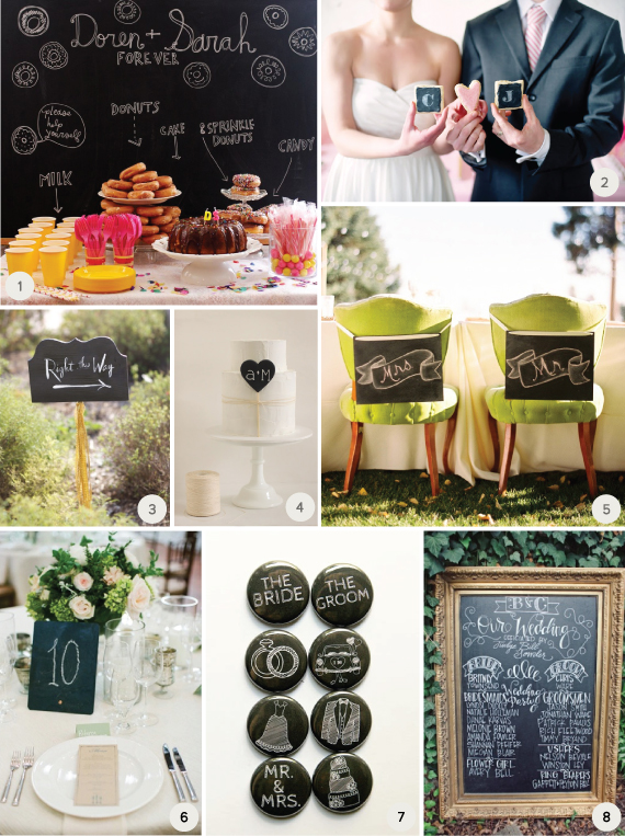 Chalkboard wedding ideas 1 julep