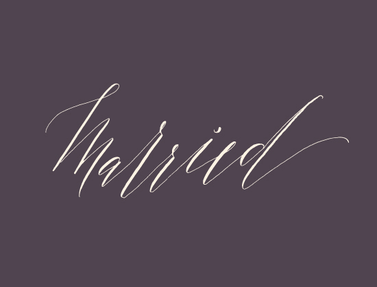 Calligraphy styles for your envelopes | Julep