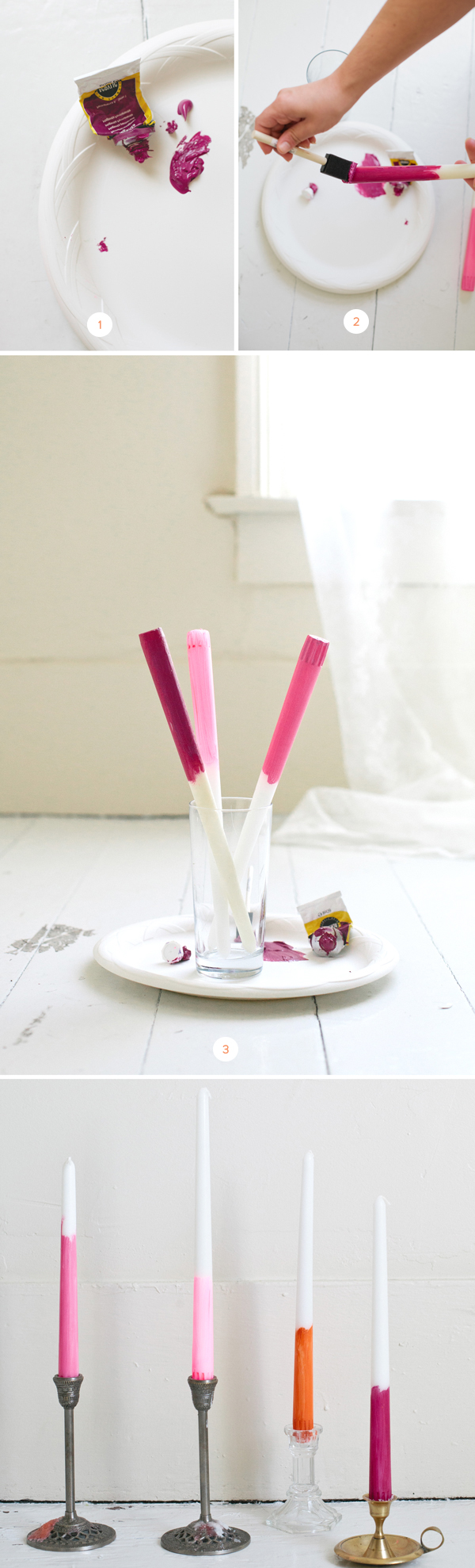 Simple Painted Candles