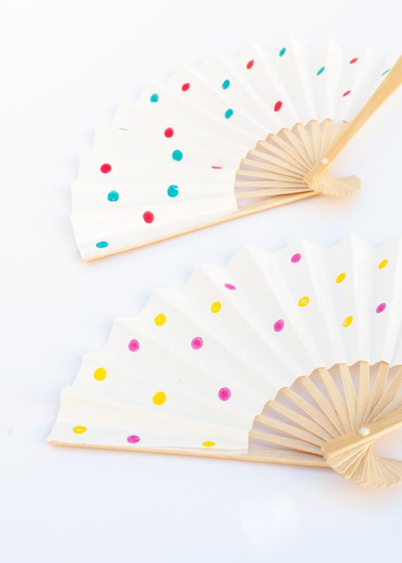 Polka Dot Fans DIY