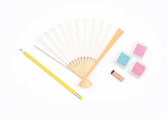 DIY Polka Dot Fans Materials