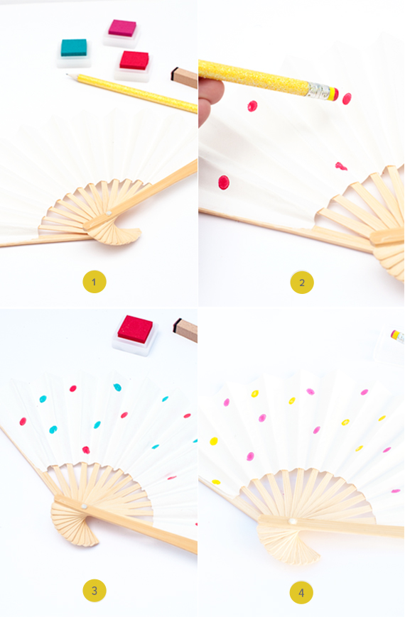 Polka Dot Fans DIY Steps