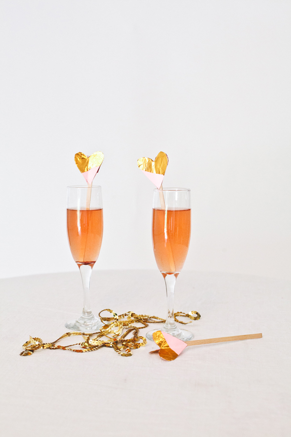 golden heart swizzle sticks