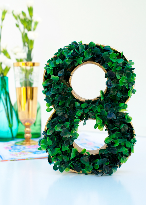 DIY Faux Grass Table Numbers