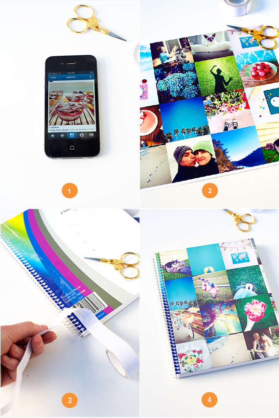 STep by STep DIY Summer Memories School Book Cover