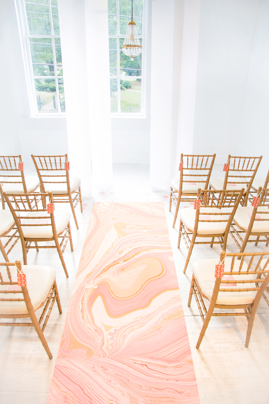 patterned ceremony runner