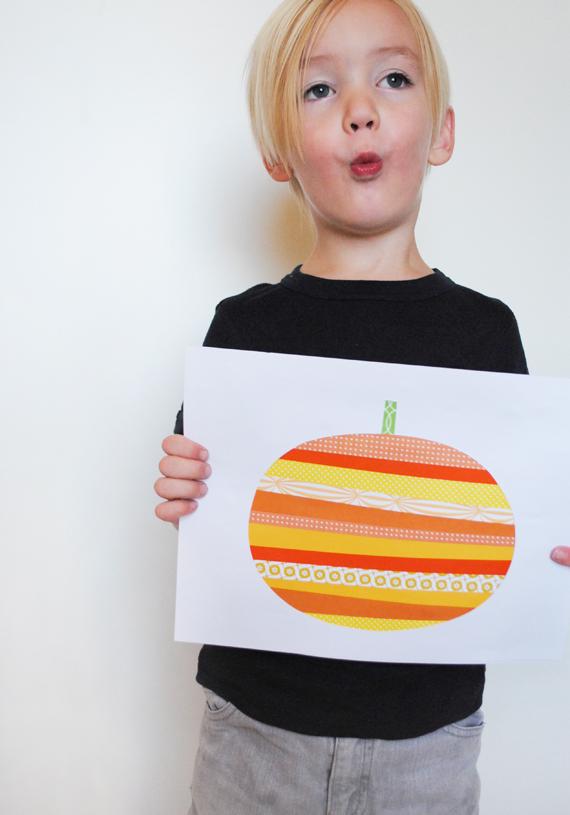 Mer Mag Paper Strip Pumpkins