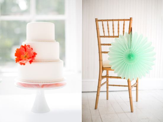 cake stand and tissue fan