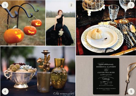 chic halloween wedding inspiration julep. Black Bedroom Furniture Sets. Home Design Ideas
