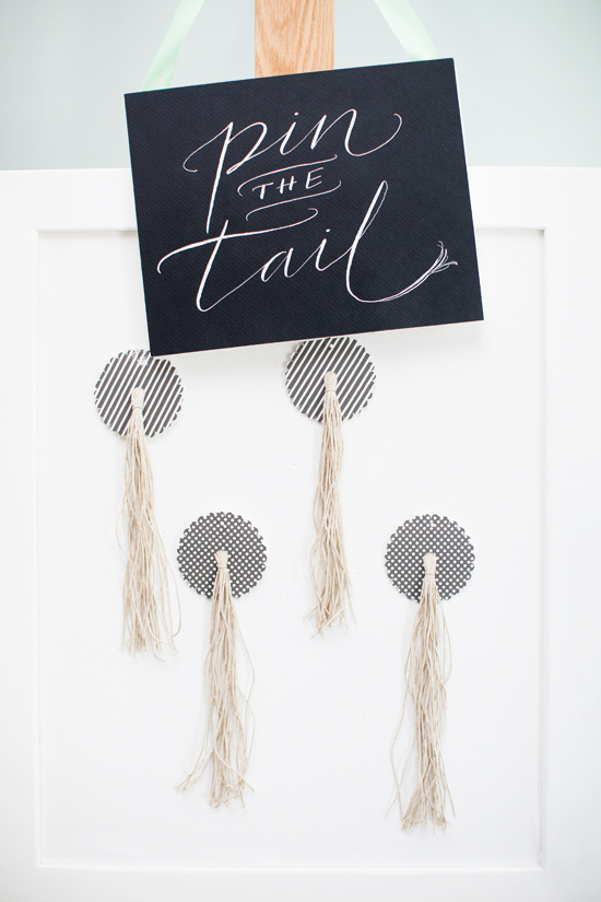pin the tail from paper wine tags