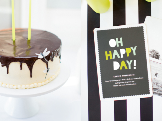 cake and cow party invite